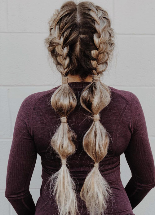 Side Braids With Bubbles - Side Braid