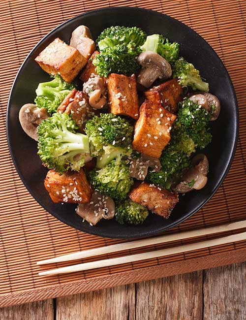 Skillet Tofu With Broccoli And Peppers