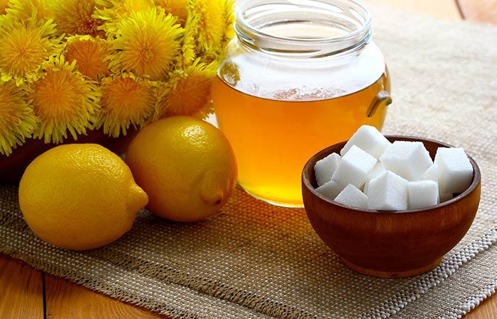 Chehre Ke Baalo Ko Hatane Ke liye Sugar, lemon aur honey