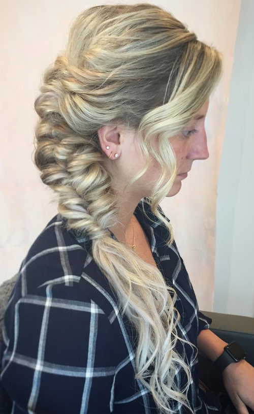 The Bouffant Side Braid - Side Braid