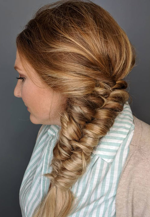 The Fishtail Side Braid - Side Braid