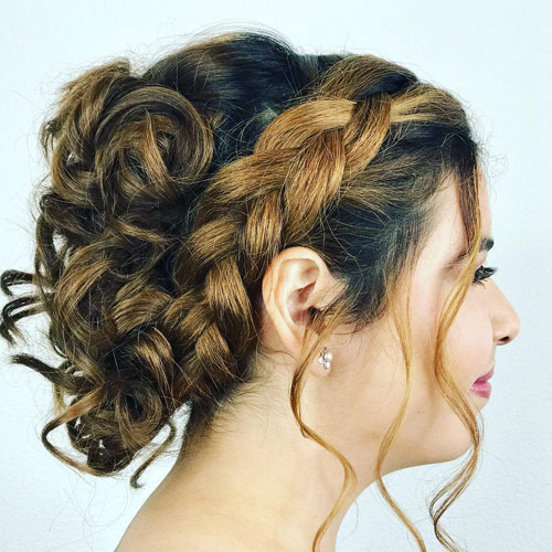 The Side Braided Updo - Side Braid
