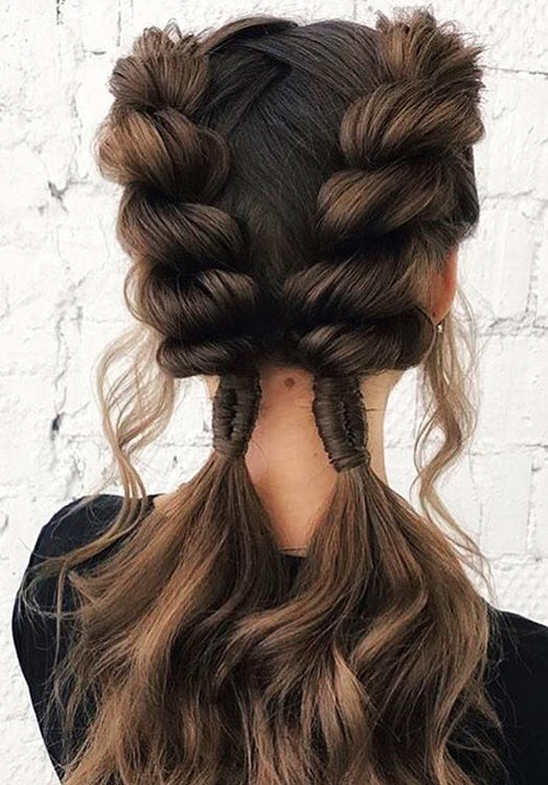 Twisted Side Braids - Side Braid