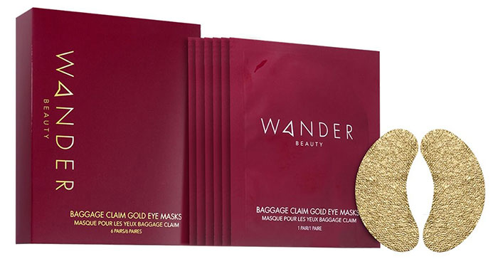 Wander Beauty Baggage Claim Gold Eye Masks