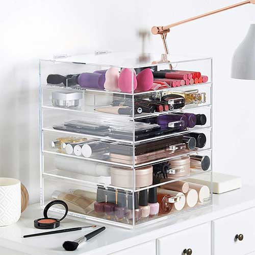 Whitmor 5 Tier Extra-Large Cosmetic Organizer