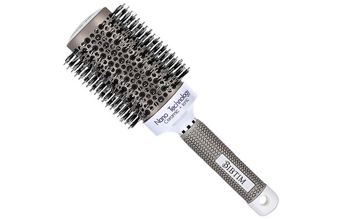 BIBTIM Nano Technology Ceramic + Ionic Boar Bristle Round Hair Brush