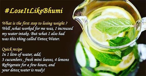 Bhumi Pednardar also drinks 7 liters of water per day