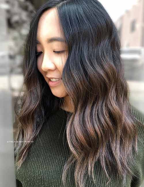 Black-To-Brown Balayage