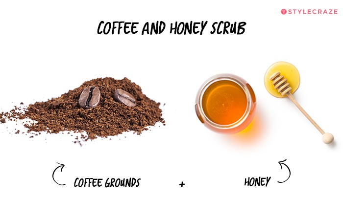 Coffee and Honey Lip Scrub in Hindi