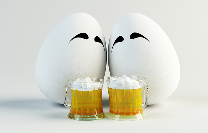 Beer and Egg for Hair Care in Hindi