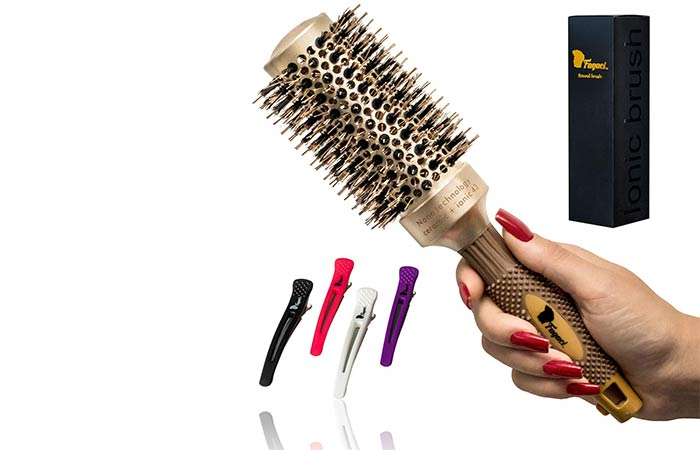 Fagaci Nano Ceramic + Ionic Technology Round Barrel Hair Brush