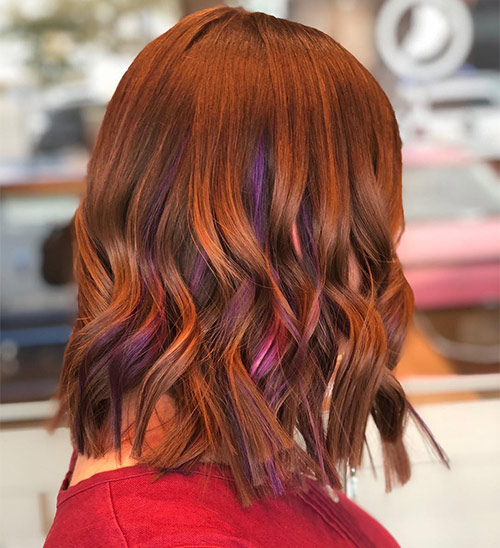Gingered Purple Highlights