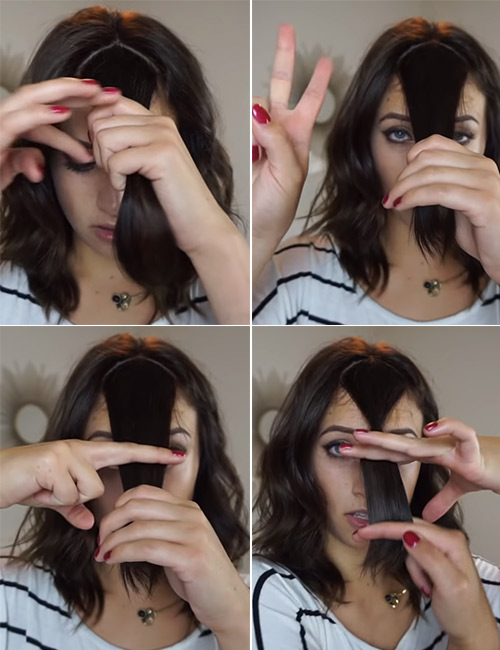 How To Cut Your Own Blunt Bangs
