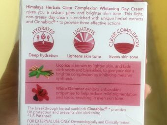 Himalaya Herbals Clear Complexion Whitening Day Cream pic 2-Nice texture but not so effective-By Sunita_Natarajan