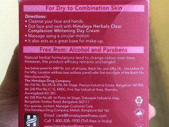 Himalaya Herbals Clear Complexion Whitening Day Cream pic 3-Nice texture but not so effective-By Sunita_Natarajan