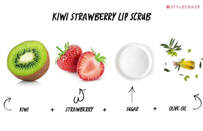 Kiwi Strawberry Lip Scrub in Hindi