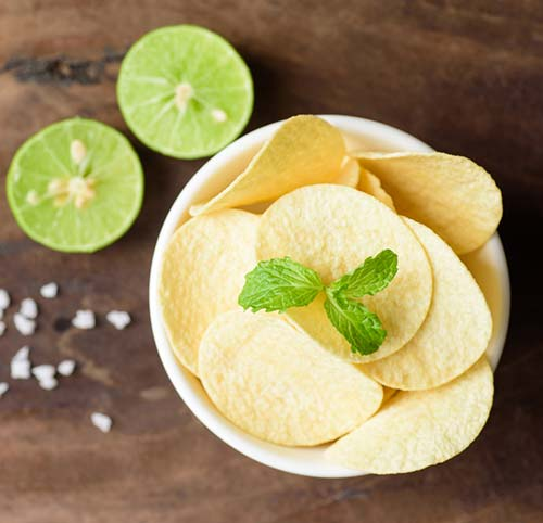 Lemon Juice And Hot Chips