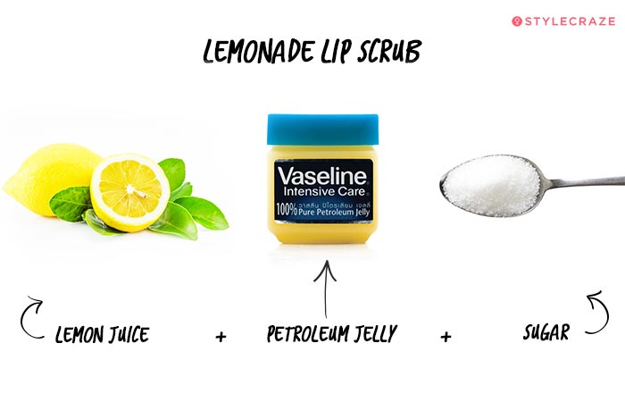 Lemon Lip Scrub in Hindi