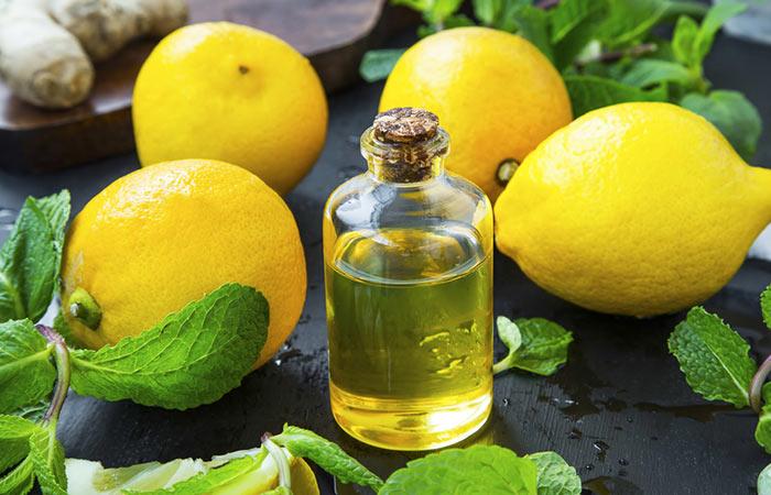 Lemon Peel in Olive or Castor Oil in Hindi