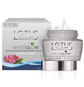 Lotus Herbals WhiteGlow Skin Whitening & Brightening Nourishing Night Crème