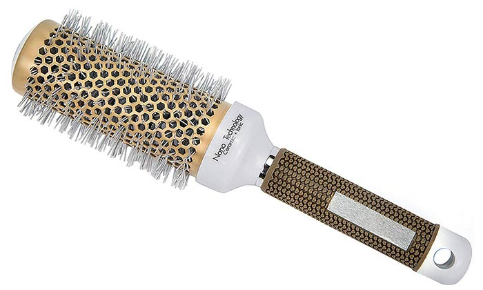 Minalo Nano Technology Ceramic + Ionic Nylon Round Hair Brush PA66