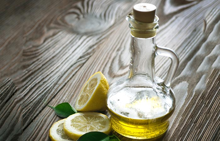 Olive oil and lemon juice for Dark Neck in Hindi