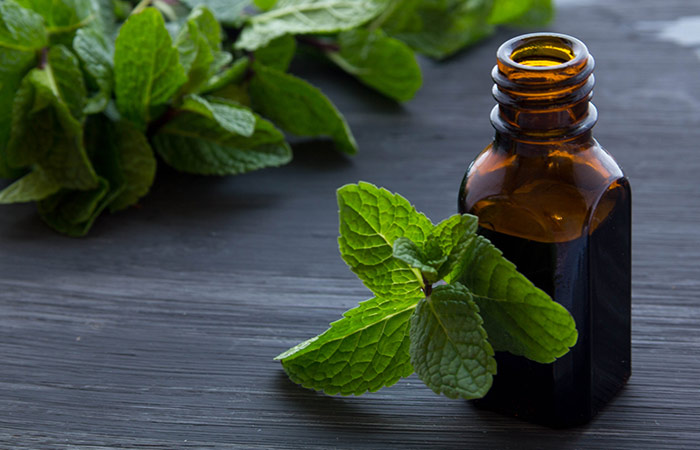 Peppermint oil for Cold Sores in Hindi