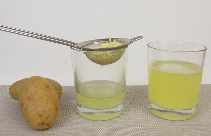 Potato juice for Dark Neck in Hindi