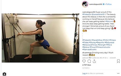 Sara Ali Kahn's training