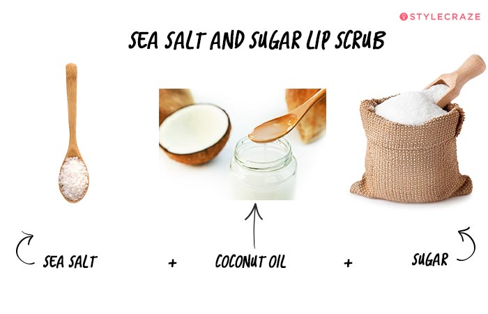 Sea Salt and Sugar Lip Scrub in Hindi