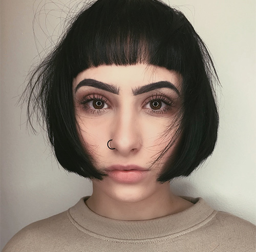 Statement Blunt Bangs