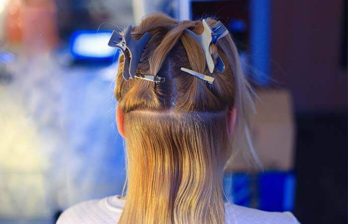 Step 4 – Divide Your Hair Into Sections