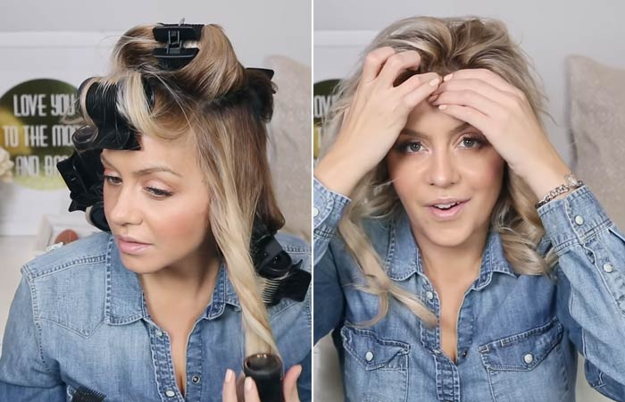 Step 7 – Remove The Rollers And Set Your Curls