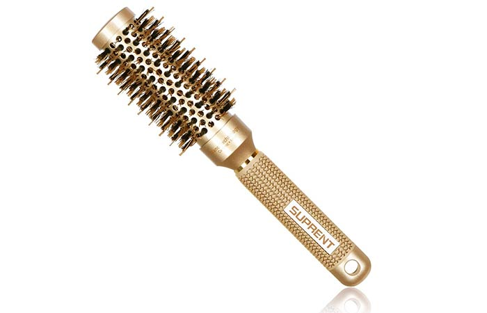 Suprent Round Barrel Hair Brush With Boar Bristles
