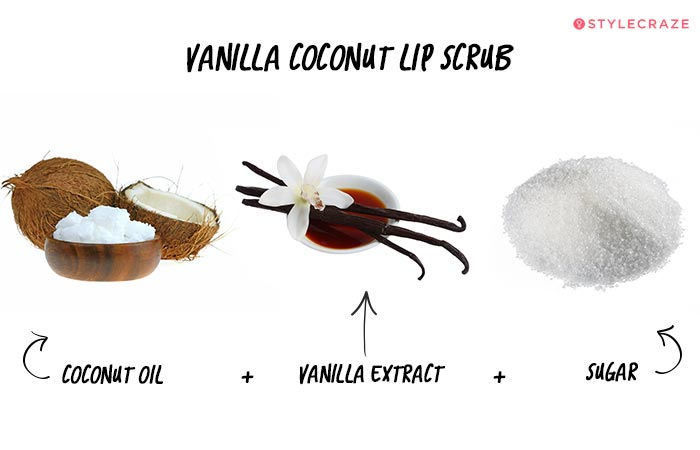 Vanilla Coconut Lip Scrub in Hindi