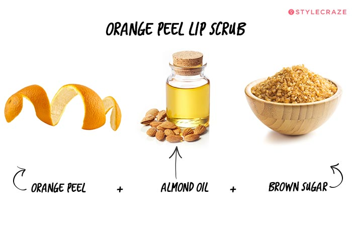 Orange Peel Lip Scrub in Hindi