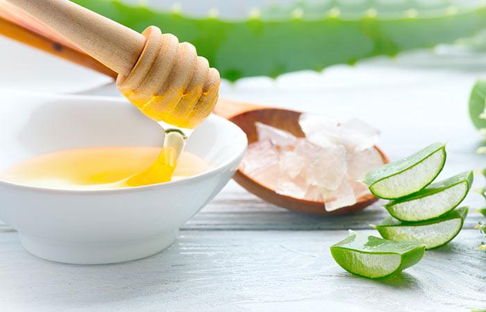 Aloe vera honey and cinnamon
