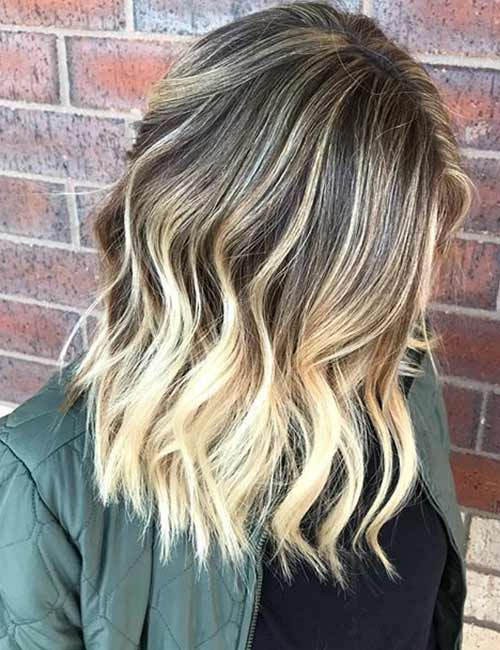 Blonde Balayage On Brown Hair