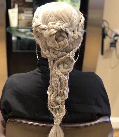 Braided Gray Locks