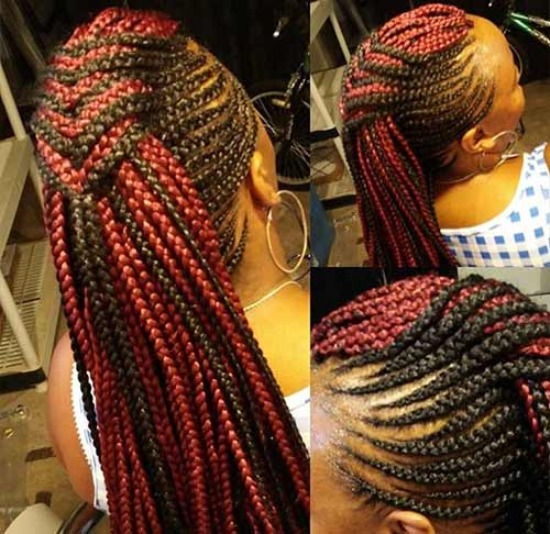 Colored Braided Mohawk