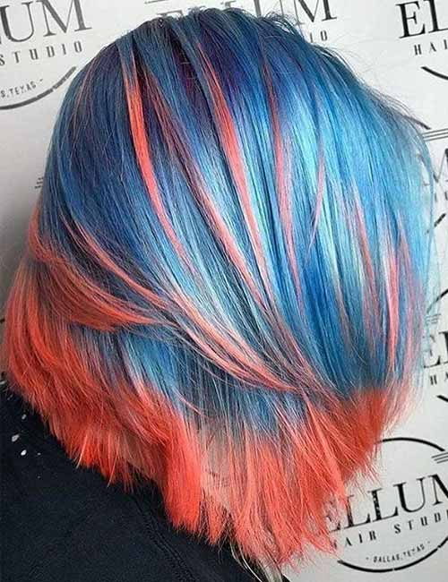 Colored Layered Bob