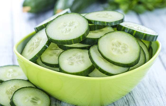 Cucumber for dark underarms