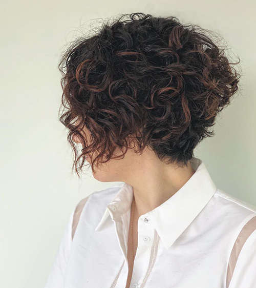 Curly Wedge Cut