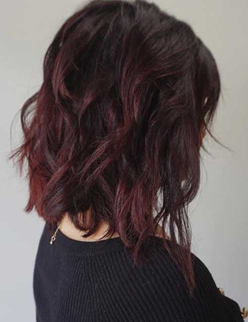 Dark Plum Textured Lob