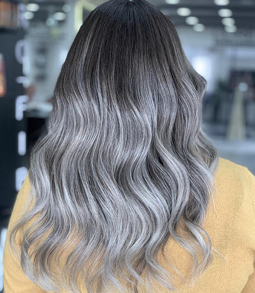 Dark-To-Light Gray Ombre
