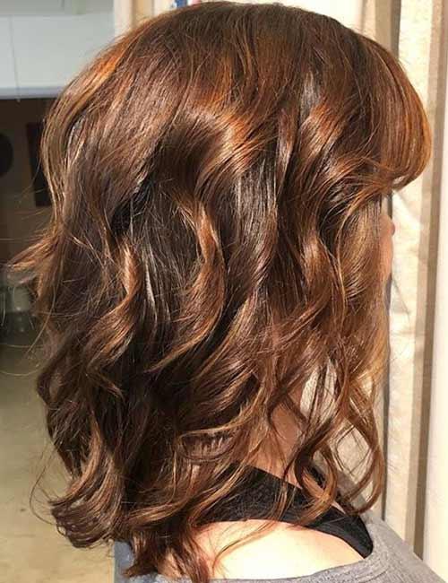 Deep Auburn Curls