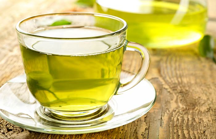 Green Tea for Double Chin in Hindi