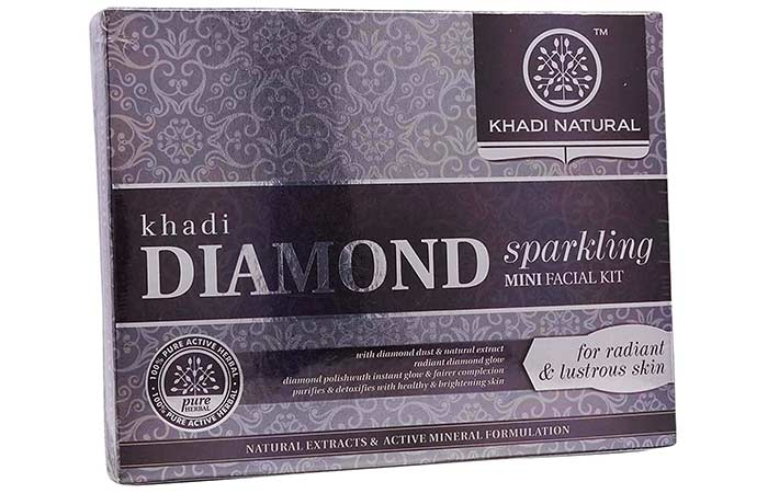 Khadi Natural Diamond Sparkling Mini Facial Kit