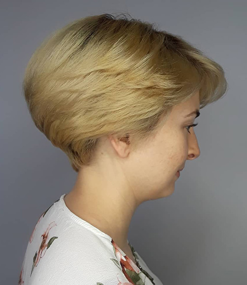 Layered And Curved Wedge Cut