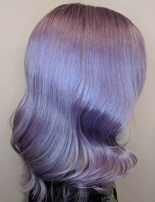 Lilac Hollywood Curls